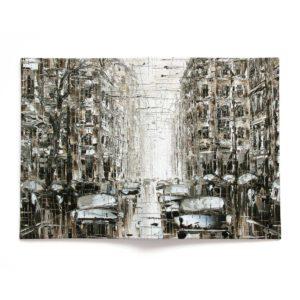 Обложка для паспорта по картине Дмитрия Кустановича из серии «Городские дожди»