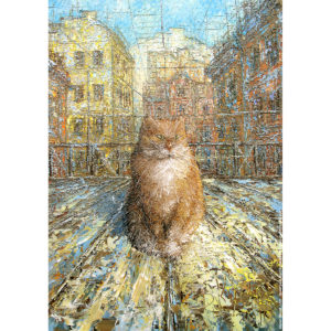 Репродукция по картине Дмитрия Кустановича «Рыжий питерский кот»
