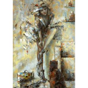 Репродукция по картине Дмитрия Кустановича «Усталость или Возвращение»