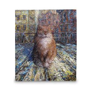 Кошелёк по картине Дмитрия Кустановича «Рыжий питерский кот»
