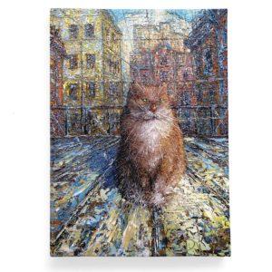 Обложка для паспорта по картине Дмитрия Кустановича «Рыжий питерский кот»