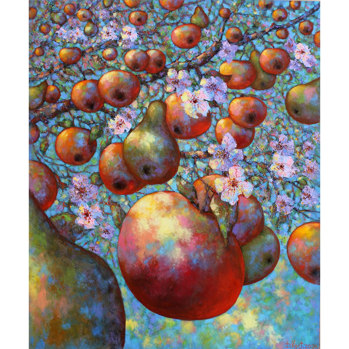 Urban фреска (жикле) по картине Дмитрия Кустановича «Сад Радости»
