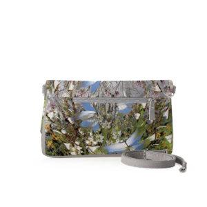 Клатч, кросс-боди по картине Дмитрия Кустановича «Бабочки над цветами и травами»