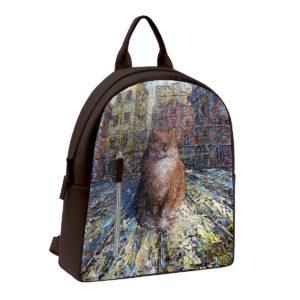 Рюкзак по картине Дмитрия Кустановича «Рыжий питерский кот»