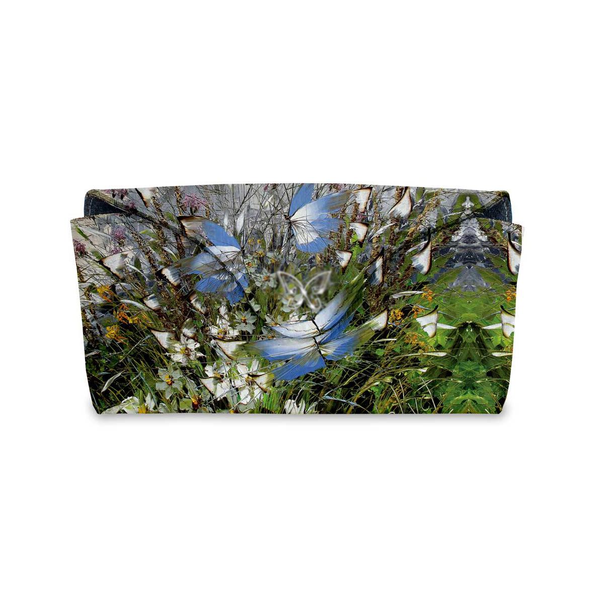 Очечник для паспорта по картине Дмитрия Кустановича «Бабочки над цветами и травами»