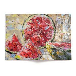 Обложка для паспорта по картине Дмитрия Кустановича «Солнечный арбуз»
