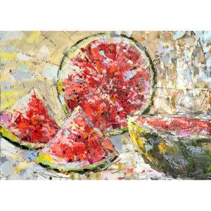 Репродукция по картине Дмитрия Кустановича «Солнечный арбуз»