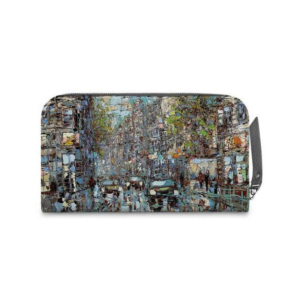 Кошелёк по картине Дмитрия Кустановича «Белые ночи на петербургской улице»