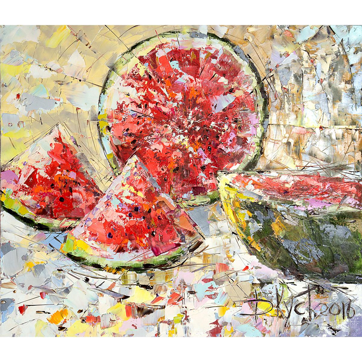 Urban фреска (жикле) по картине Дмитрия Кустановича «Солнечный арбуз»