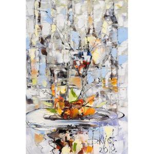 Urban фреска (жикле) по картине Дмитрия Кустановича «Натюрморт»