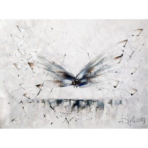 Urban фреска (жикле) по картине Дмитрия Кустановича «Стрекоза»