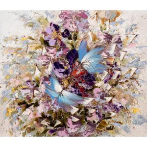 Urban фреска (жикле) по картине Дмитрия Кустановича из серии «Бабочки»