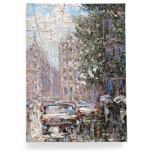 Обложка для паспорта по картине Дмитрия Кустановича «Дождь и солнце в Петербурге»