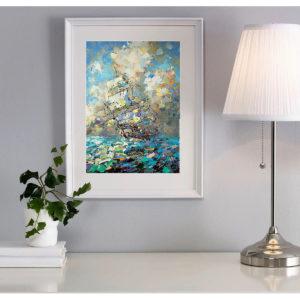 Репродукция по картине Дмитрия Кустановича «Паруса наполненные солнцем»