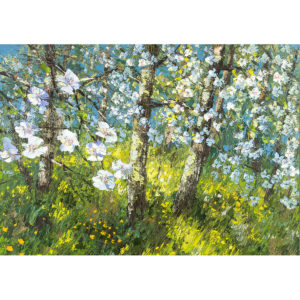Репродукция по картине Дмитрия Кустановича «Майский сад»