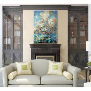 Urban фреска (жикле) по картине Дмитрия Кустановича «Паруса наполненные солнцем»