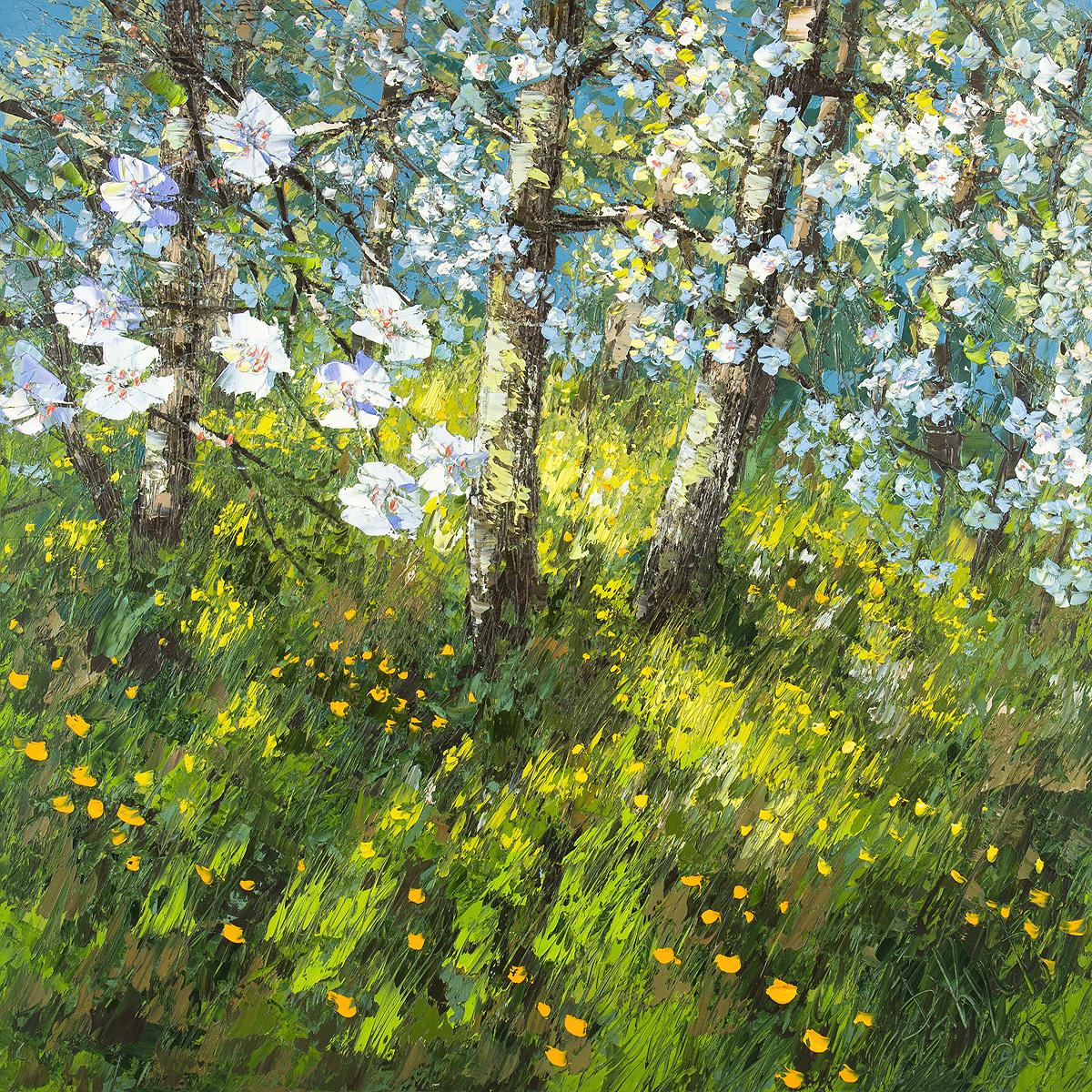 Urban фреска (жикле) по картине Дмитрия Кустановича «Майский сад»