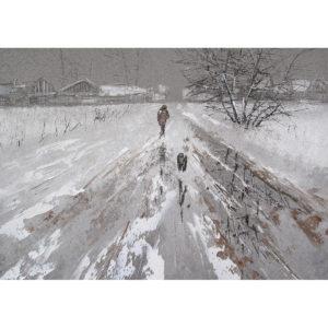 Репродукция по картине Дмитрия Кустановича «Путник с собакой»