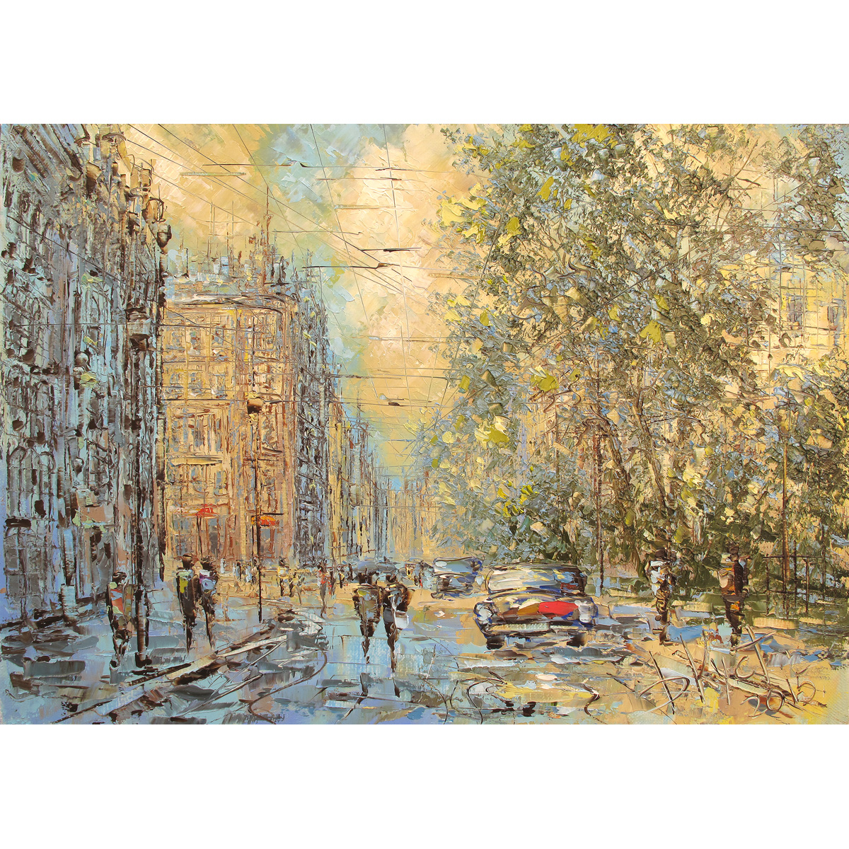 Дмитрий Кустанович «Весенний день в Петербурге»