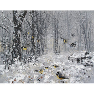 Дмитрий Кустанович. «Зимняя аллея. Александро-Невская лавра»