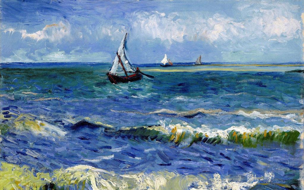 Винсент Ван Гог. Морской пейзаж возле Les Сент-Мари – де – ла-Мер