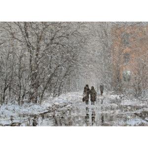 Репродукция по картине Дмитрия Кустановича «Февральский день»