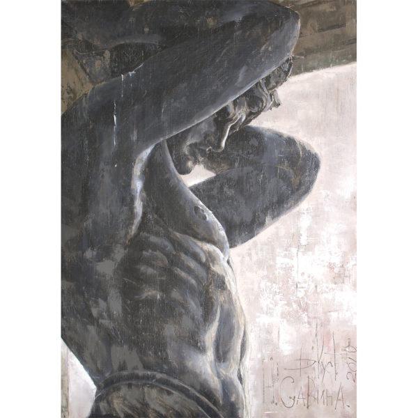 Репродукция по картине Дмитрия Кустановича «Атланты Эрмитажа»