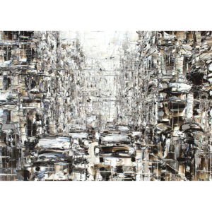 Репродукция по картине Дмитрия Кустановича из серии «Городские дожди»