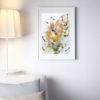 Репродукции по картине Дмитрия Кустановича из серии «Бабочки» в интерьере