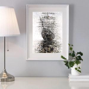 Репродукция по картине Дмитрия Кустановича «Вдохновленный дождями» в интерьере