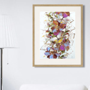 Репродукция по картине Дмитрия Кустановича «Бабочки» в интерьере
