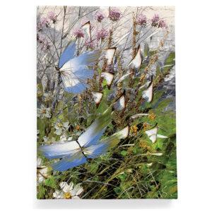 Обложка для паспорта по картине Дмитрия Кустановича «Бабочки над цветами и травами»